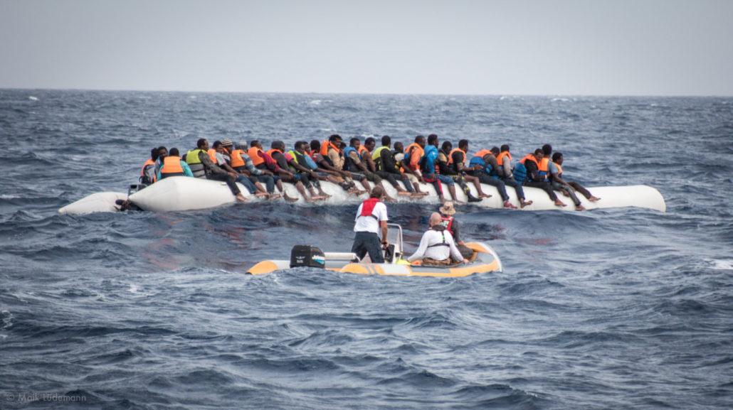 Flüchtlinge auf dem Rubberboat