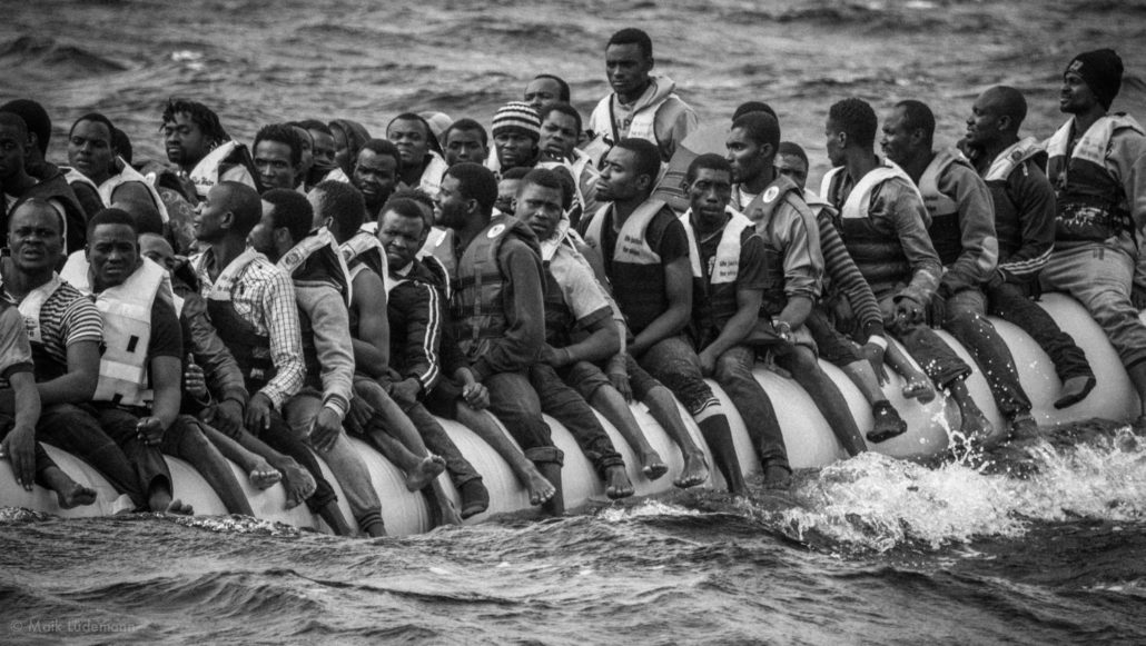 Flüchtlinge auf Rubberboat